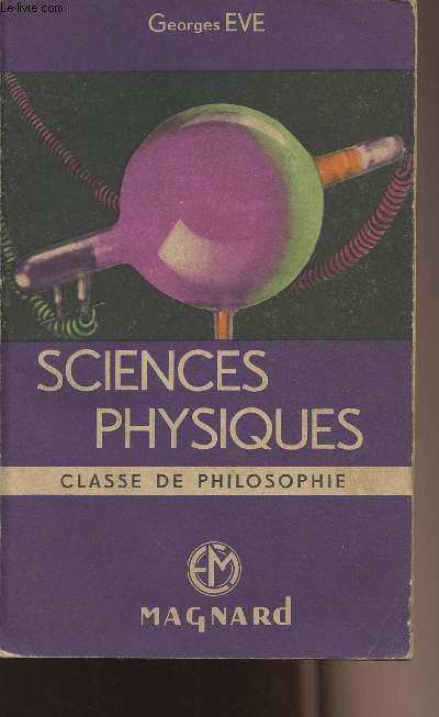 Sciences physiques - Classe de philosophie