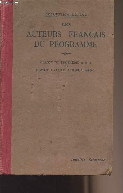 Les auteurs français du programme - Classe de troisième A et B - Collection