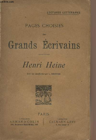 Pages choisies des Grands écrivains - Henri Heine