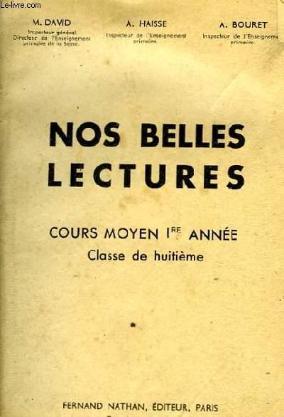 NOS BELLES LECTURES 8e
