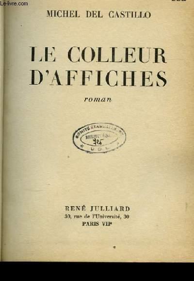 LE COLLEUR D'AFFICHES ROMAN