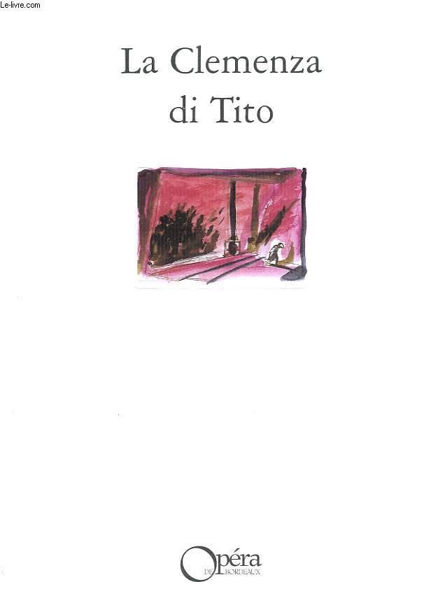 LA CLEMENZA DI TITOOPERA SERIA EN 2 ACTES.