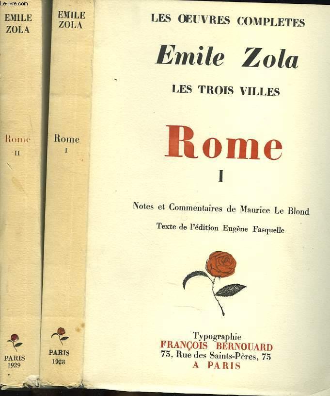LES TROIS VILLES. ROME. TOME I E II.