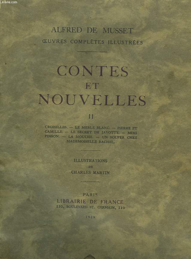 OEUVRES COMPLETES ILLUSTREES, CONTES ET NOUVELLES TOME II.