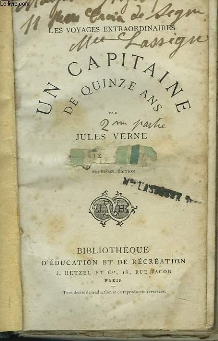UN CAPITAINE DE QUINZE ANS. DEUXIEME PARTIE. 9e EDITION.