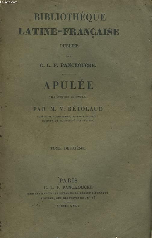 OEUVRES. TRADUCTION NOUVELLE PAR M. V. BETOLAUD. TOME DEUXIEME.