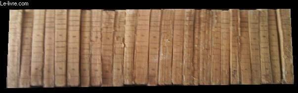 OEUVRES. 26 VOLUMES. (MANQUE TOMES 8 ET 18) T.1 WAVERLEY, T.2 L'ANTIQUAIRE, T.3 GUY MANNERING, T.4 ROB-ROY, T.5 KENILWORTH, T.6 LA PRISON, T.7 LE VIEILLARD DES TOMBEAUX, T.9 LE CHÂTEAUX DANGEREUX, T. 10 WOODSTOCK, T.11 AVENTUES DE NIGEL, ...