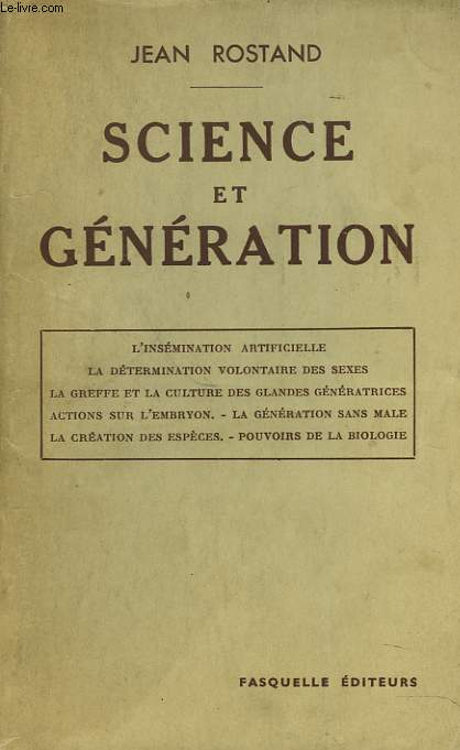 SCIENCE ET GENERATION