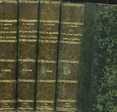 VIEILLES MAISONS, VIEUX PAPIERS. 4 TOMES. (manque les tomes 5 et 6).