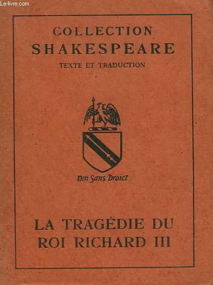 LA TRAGEDIE DU ROI RICHARD III.