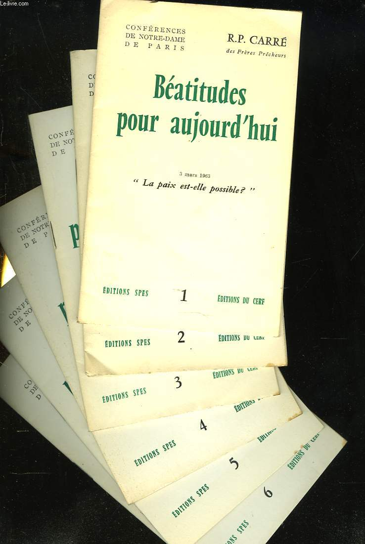 BEATITUDES POUR AUJOURD'HUI. 3 MARS 1963.
