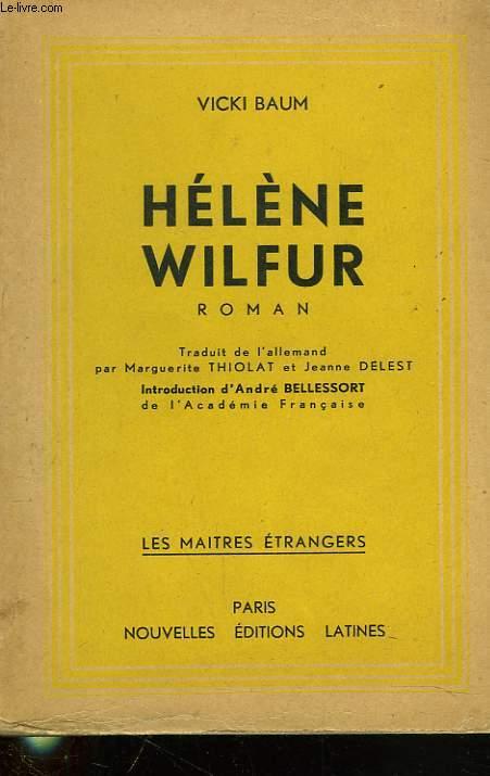 HELENE WILFUR. ETUDIATE EN CHIMIE.