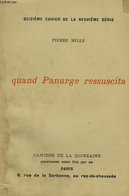 QUAND PANURGE RESSUCITA