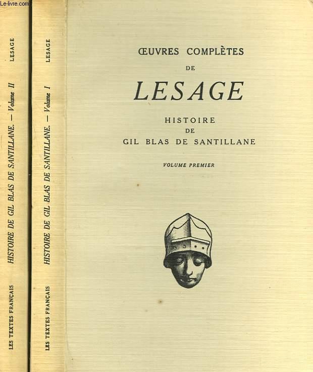 HISTOIRE DE GIL BLAS DE SANTILLANE. EN 2 VOLUMES.