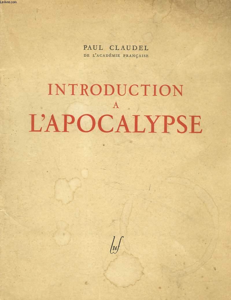 INTRODUCTION A L'APOCALYPSE