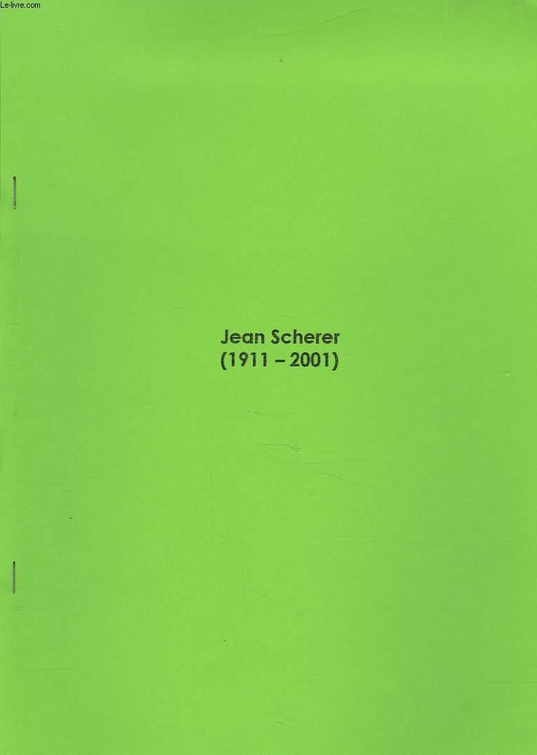 JEAN SCHERER (1911-2001).