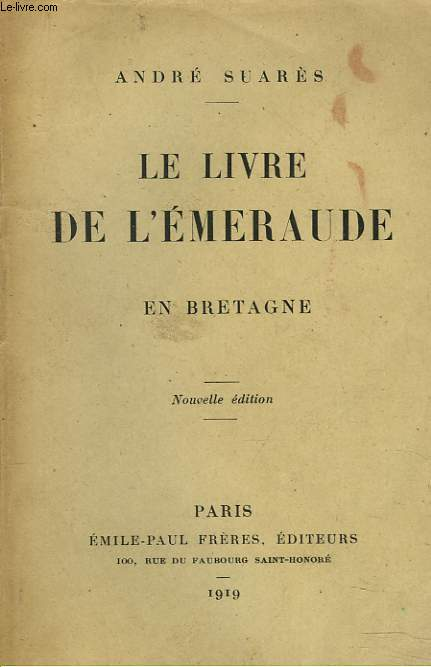 LE LIVRE DE L'EMERAUDE EN BRETAGNE