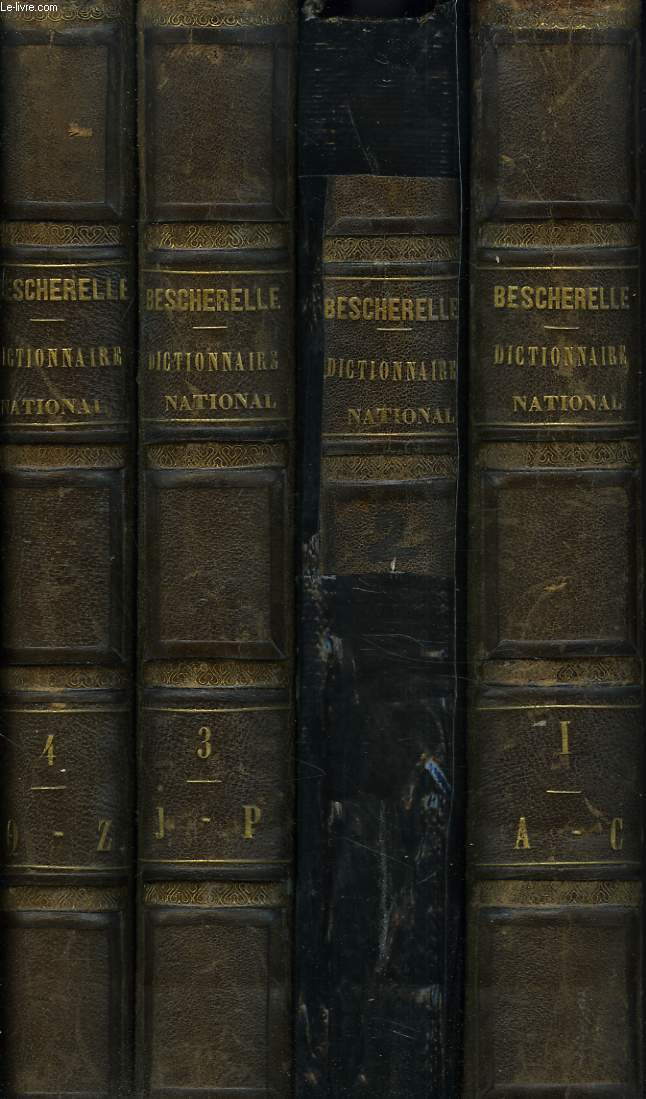 DICTIONNAIRE NATIONAL OU DICTIONNAIRE DE LA LANGUE FRANCAISE EN 4 TOMES. 9e EDITION.