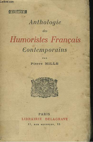 ANTHOLOGIE DES HUMOURISTES FRANCAIS CONTEMPORAINS