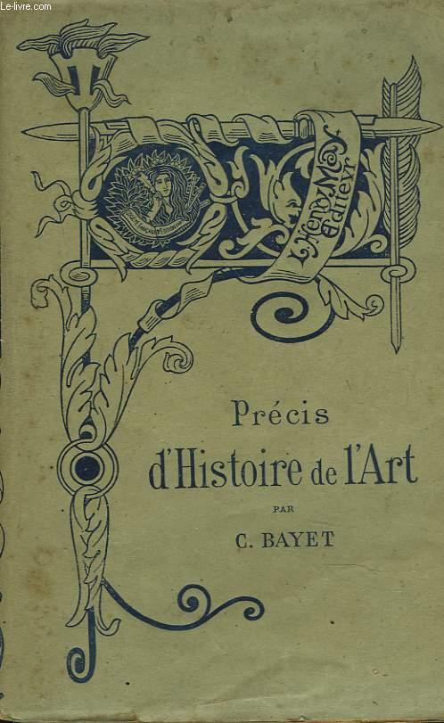 PRECIS D'HISTOIRE DE L'ART