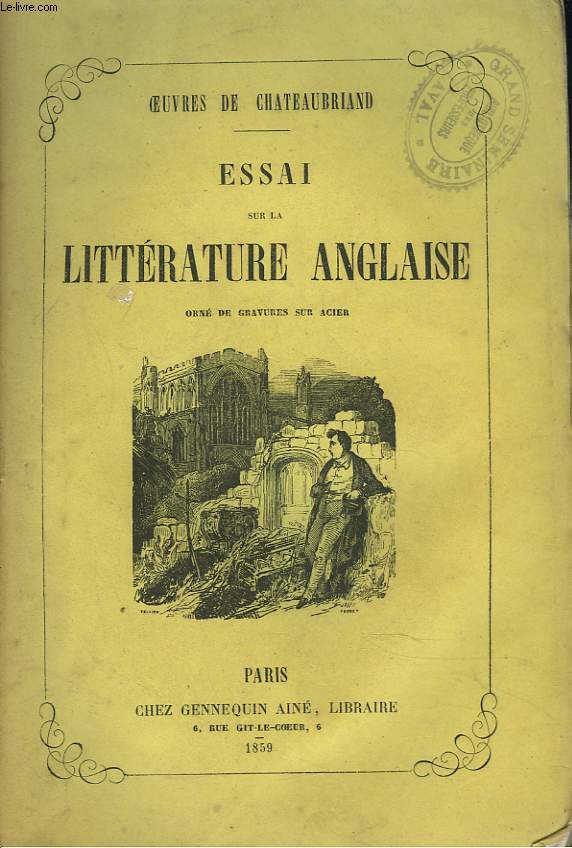 OEUVRES. TOME 16. LITTERATURE ANGLAISE.