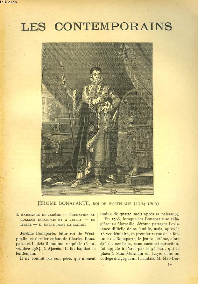 LES CONTEMPORAINS N°601. JEROME BONAPARTE, ROI DE WESTPHALIE (1784-1860).
