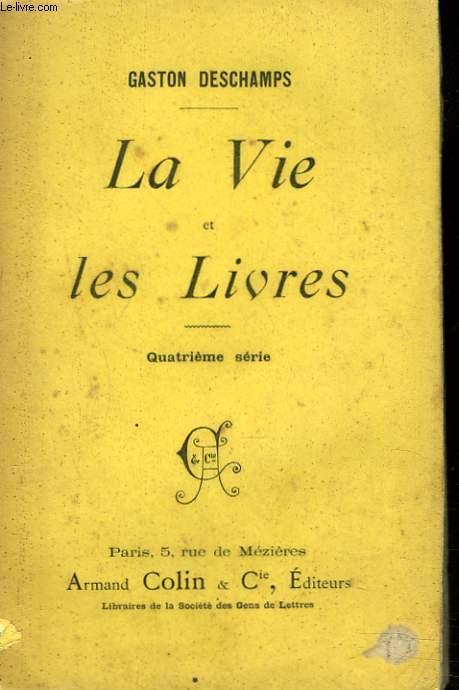 LA VIE DES LIVRES. + ENVOI DE L'AUTEUR.
