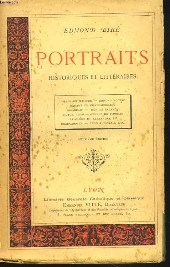 PORTRAITS HISTORIQUES ET LITTERAIRES.
