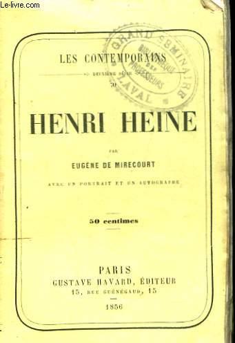 LES CONTEMPORAINS. HENRI HEINE.