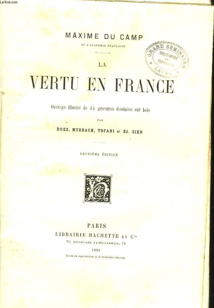 LA VERTU EN FRANCE