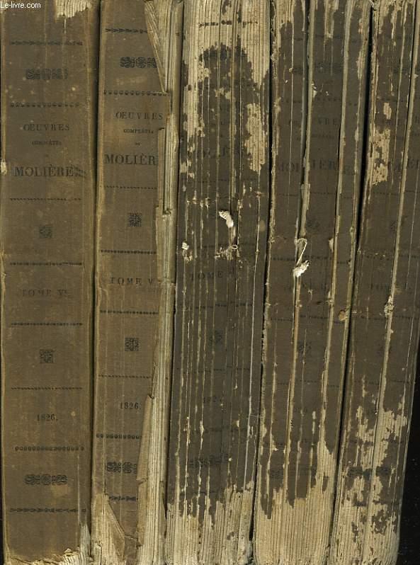 OEUVRES COMPLETES avec des notices historiques et littéraires, précédées de sa vie par VOLTAIRE et de son éloge par CHAMFORT. TOMES I, II, III, V et VI. (MANQUE LE TOME IV).