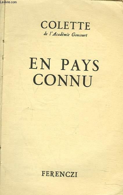 EN PAYS CONNU