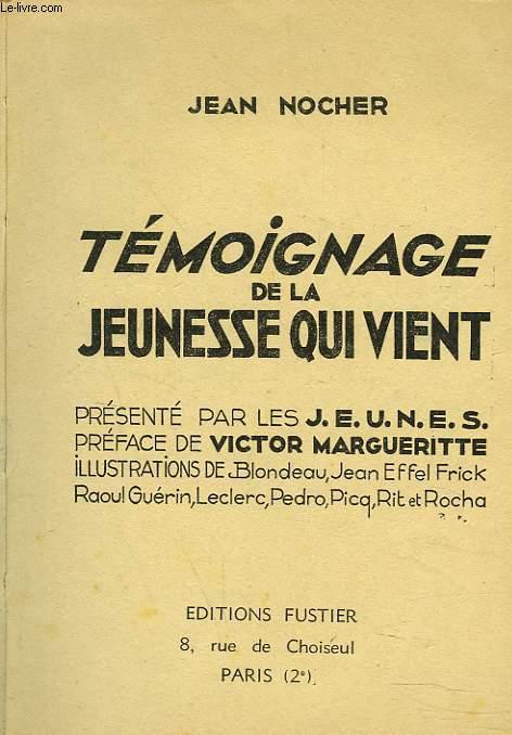 TEMOIGNAGE DE LA JEUNESSE QUI VIENT