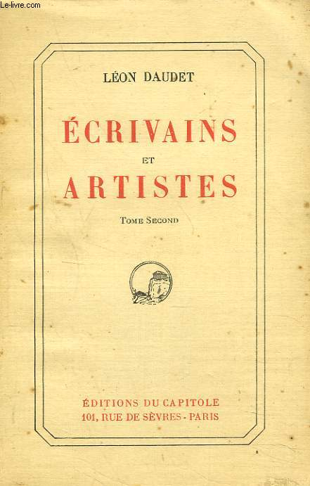 ECRIVAINS ET ARTISTES. TOME SECOND.