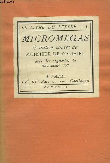 MICROMEGAS ET AUTRES CONTES.