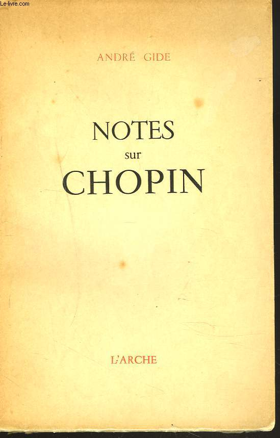 NOTES SUR CHOPIN