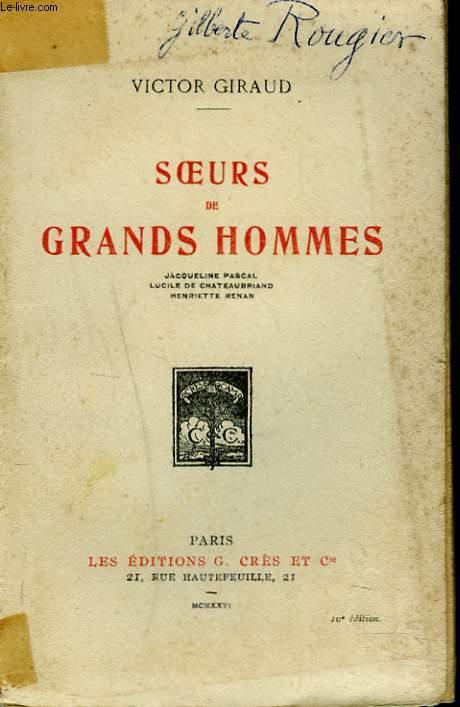SOEURS DES GRANDS HOMMES