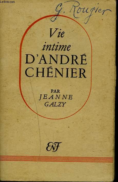 VIE INTIME D'ANDRE CHENIER