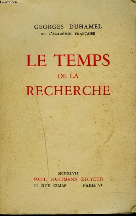 LE TEMPS DE LA RECHERCHE