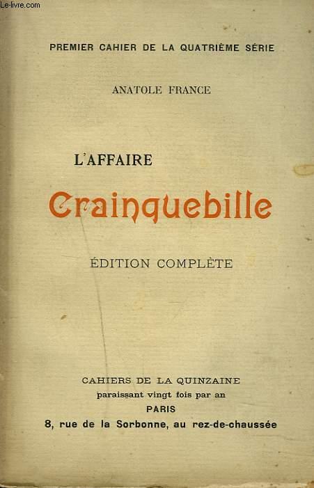 L'AFFAIRE CRAINQUEBILLE