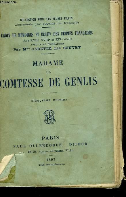MADAME LA CONTESSE DE GENLIS