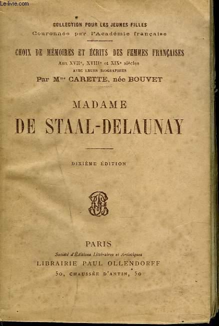 MADAME DE STAAL-DELAUNAY