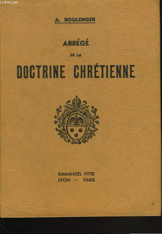 AGREGE DE LA DOCTRINE CHRETIENNE. COURS MOYEN.