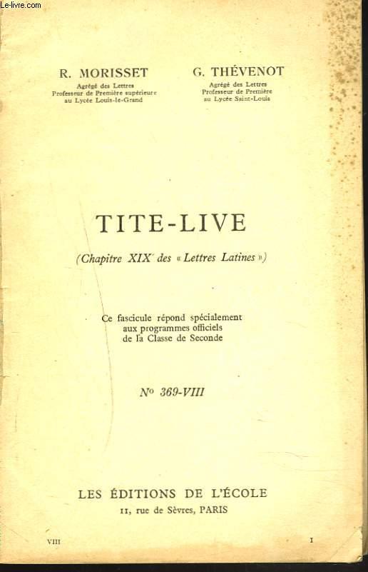 TITE-LIVE (CHAPITRE XIX DES