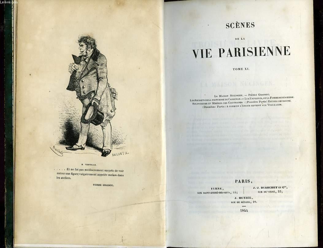 OEUVRES COMPLETES. LA COMEDIE HUMAINE. TOME XI. SCENES DE LA VIE PARISIENNE