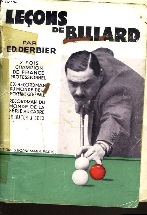 LECONS DE BILLARD