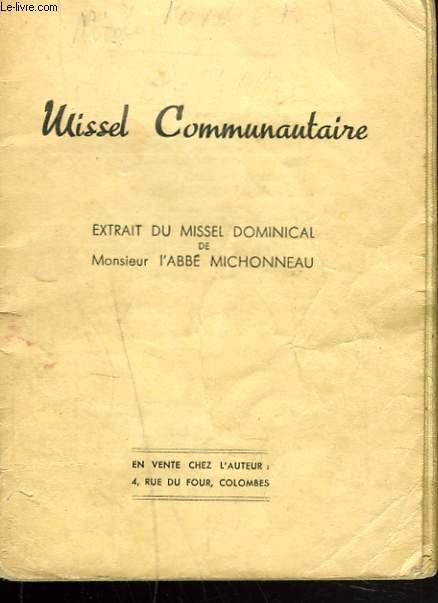 MISSEL COMMUNAUTAIRE EXTRAIT DU MISSEL DOMINICAL.