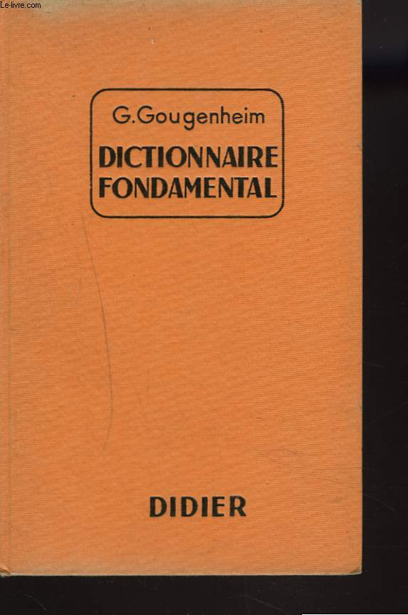 DICTIONNAIRE FONDAMENTAL