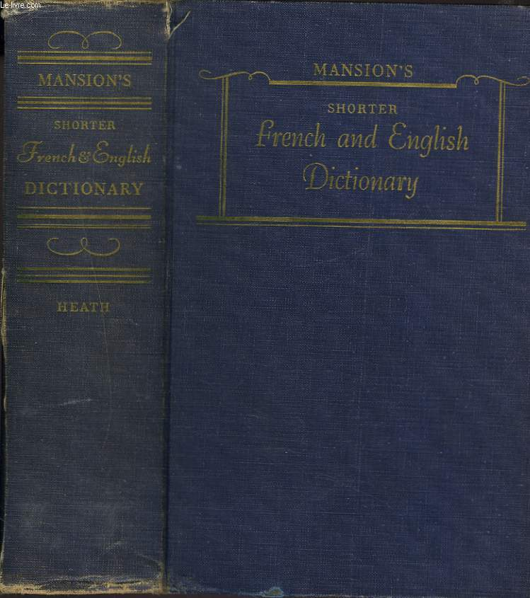 MANSION'S SHORTER FRENCH AND ENGLISH DICTIONARY.