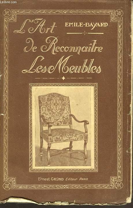 L'ART DE RECONNAÎTRE LES MEUBLES.